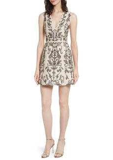 Alice + Olivia Prescilla Embellished Silk Dress