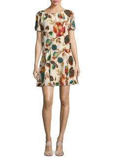 Alice + Olivia Printed Drop-Waist Dress