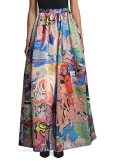 Alice + Olivia Printed Long Skirt