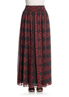 Alice + Olivia Printed Shirred Skirt