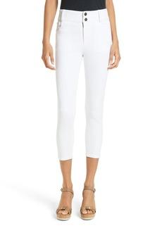 Alice + Olivia Quinn Crop Skinny Jeans