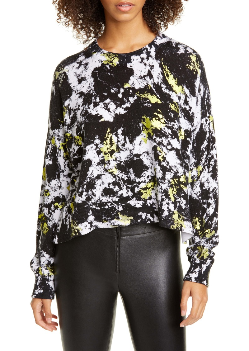 Alice + Olivia Quintin Cotton Blend Sweater