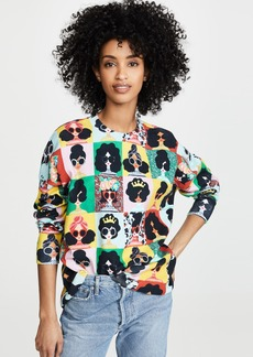 alice + olivia Quintin Cropped Boxy Pullover