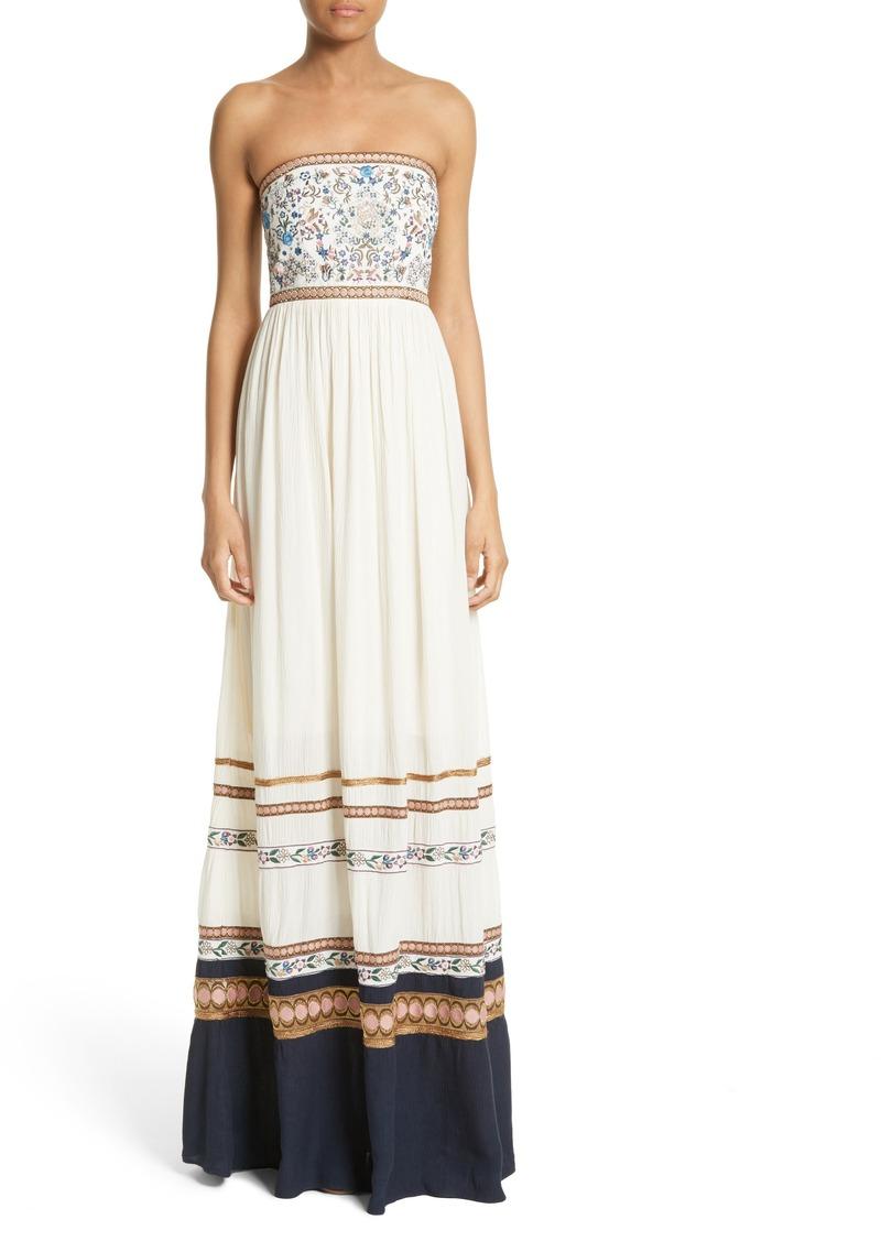 c262d12d9b5 On Today Alice Olivia Quyen Embroidered Maxi. Alice Olivia Chantay  Sleeveless Asymmetric Maxi Dress ...