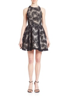 Alice + Olivia Racerback Fit & Flare Party Dress