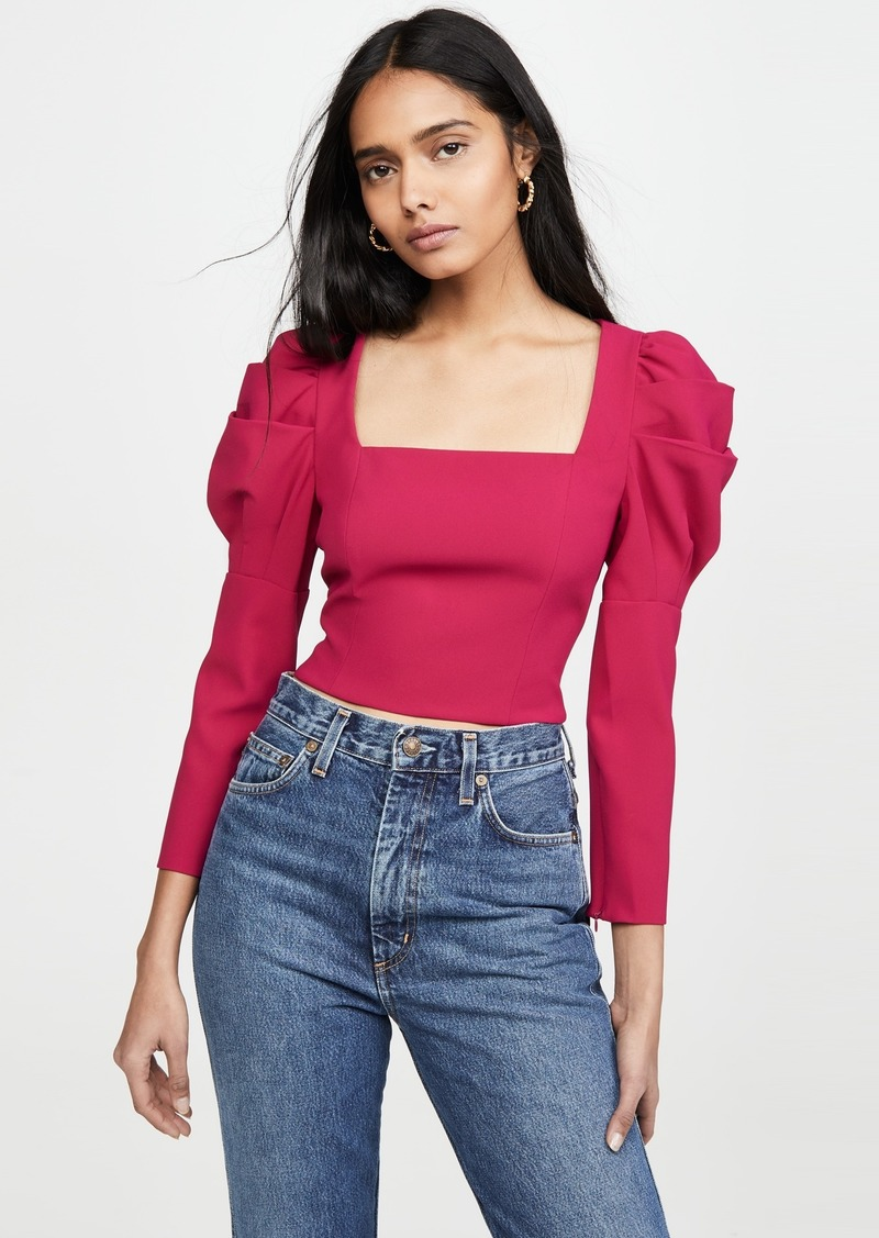 alice + olivia Rach Puff Sleeve Top
