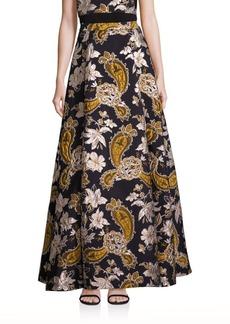 Alice + Olivia Rachele Paisley Printed Long Skirt