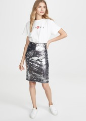 alice + olivia Ramos Sequin Skirt
