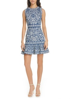 Alice + Olivia Rapunzel Embroidered Dress