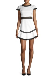 Alice + Olivia Rapunzel Flounce Mini Dress
