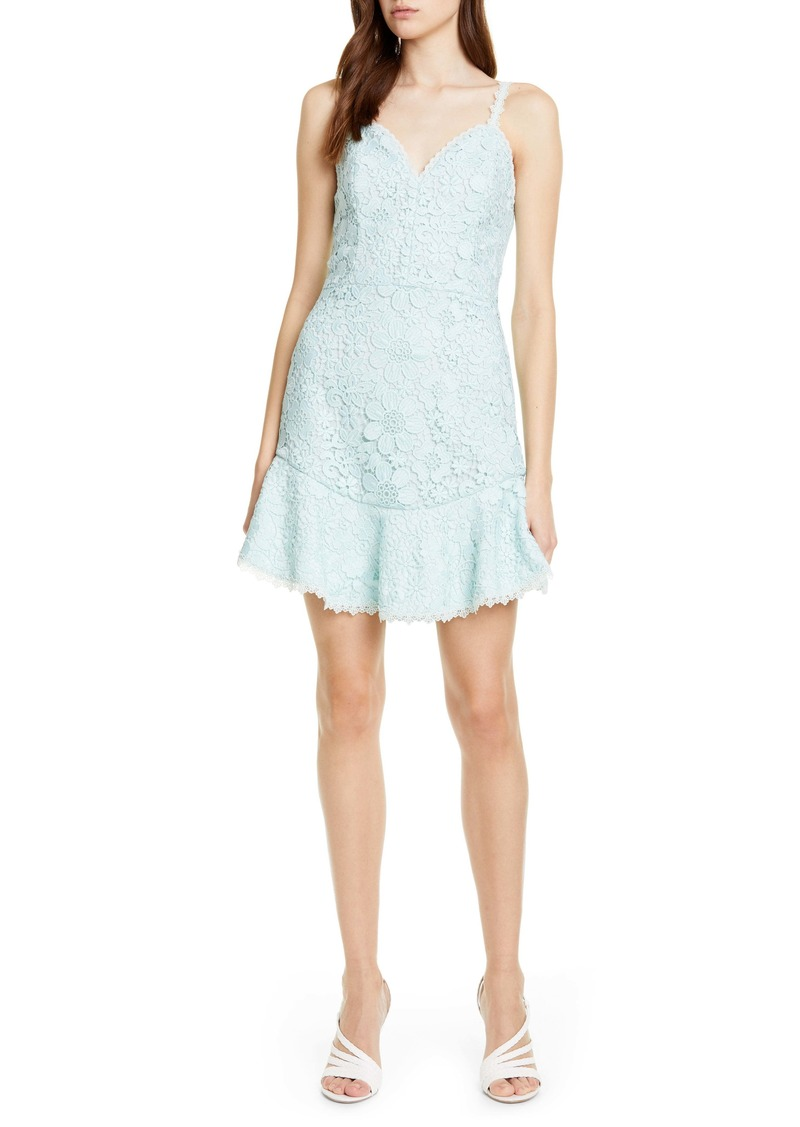 Alice + Olivia Rapunzel Lace Cocktail Minidress