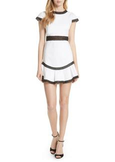 Alice + Olivia Rapunzel Stretch Cotton Fit & Flare Minidress
