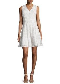 Alice + Olivia Reba Sleeveless Embroidered A-Line Dress