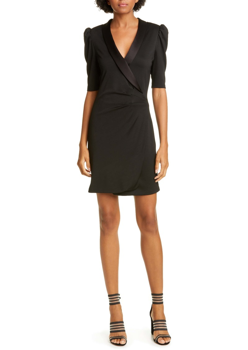 Alice + Olivia Remi Deep V-Neck Tuxedo Dress