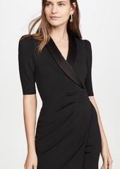 alice + olivia Remi Plunging V Neck Front Suit Dress
