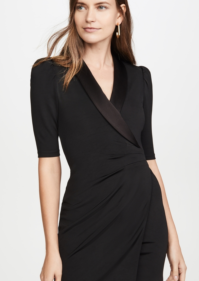 alice + olivia Remi Plunging V Neck Front Suit Dress