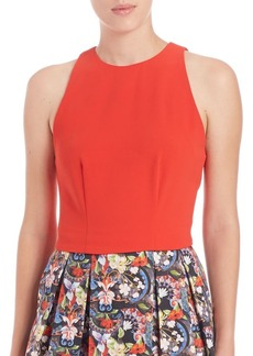 Alice + Olivia Ren Lace-Panel Cropped Top