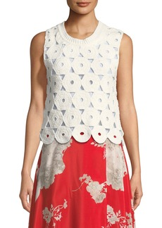 Alice + Olivia Reva Medallion Crochet Shell
