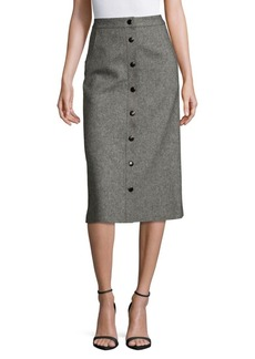 Alice + Olivia Rhoda A-Line Wool Blend Skirt