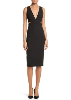 Alice + Olivia Riki Cutout Sheath Dress