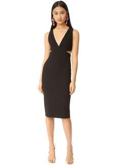 alice + olivia Riki Fitted Cutout Dress