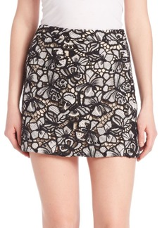 Alice + Olivia Riley Floral A-Line Mini Skirt