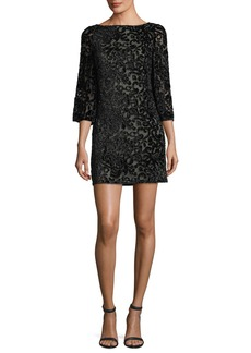 Alice + Olivia Riska Embellished Velvet Devoré Cocktail Dress