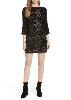 Alice + Olivia Riska Lace Bateau Neck Shift Dress