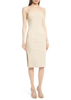 Alice + Olivia Rochell Suede Sheath Dress