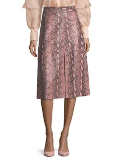 Alice + Olivia Romi Leather Midi Skirt