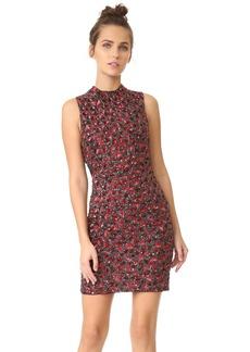 alice + olivia Rosalee Embroidered Mock Neck Dress