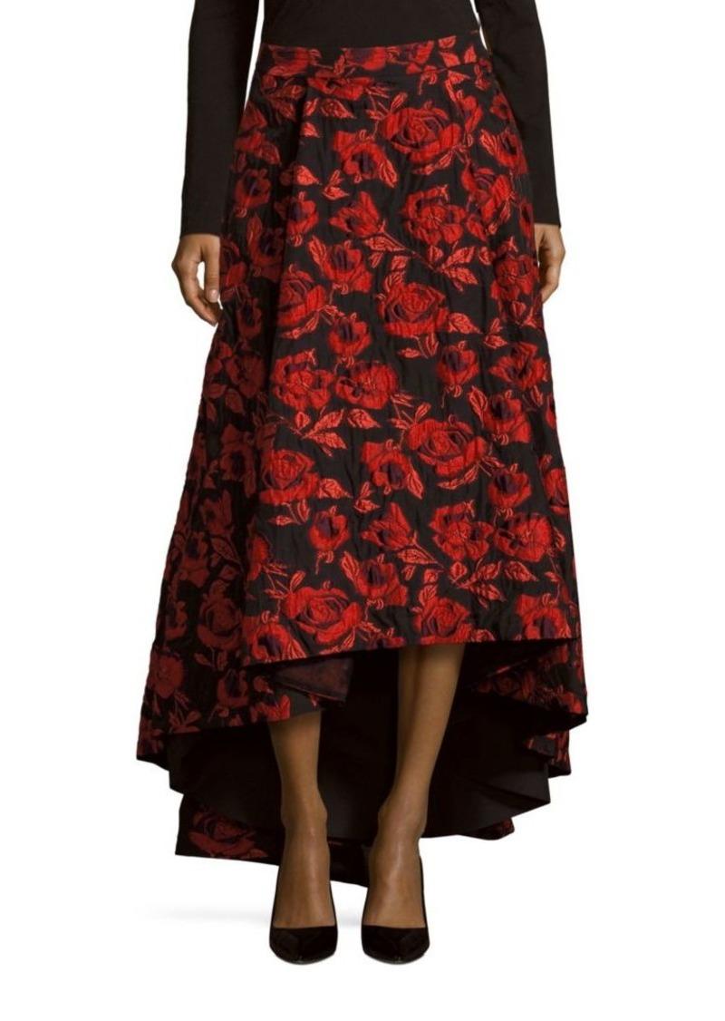 Alice Olivia Rose Print Hi Lo Skirt