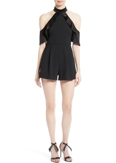 Alice + Olivia Roseline Cold Shoulder Romper
