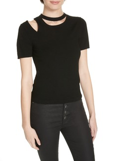 Alice + Olivia Roslyn Cutout Fitted Sweater