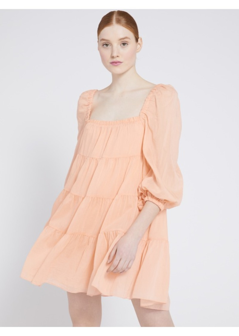 alice + olivia ROWEN TIERED MINI DRESS