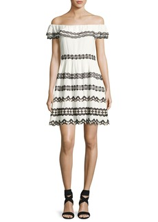 Alice + Olivia Rozzi Off-the-Shoulder Dress