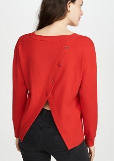 alice + olivia Ruela Split Back Sweater