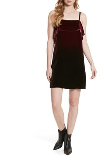 Alice + Olivia Ruffle Bodice Velvet Dress