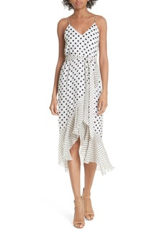 Alice + Olivia Ruffle Faux Wrap Dress