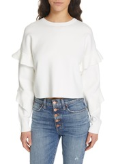 Alice + Olivia Ruffle Sleeve Sweater