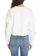 Alice + Olivia Ruffle Sleeve Sweater
