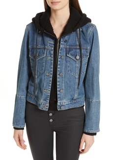 Alice + Olivia Rumor Combo Hoodie & Denim Jacket