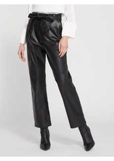 alice + olivia RYAN LEATHER PAPER BAG ANKLE PANT