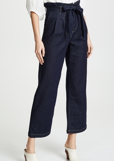 alice + olivia Ryan Paperbag Denim Pants