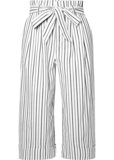 Alice + Olivia Ryan Striped Stretch-cotton Culottes