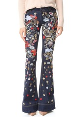alice + olivia Ryley Embellished Low Rise Bell Jeans