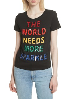 Alice + Olivia Rylyn The World Needs More Sparkle Tee
