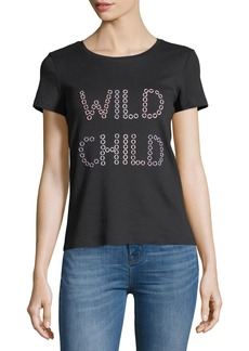 Alice + Olivia Rylyn Wild Child Short-Sleeve Graphic Tee
