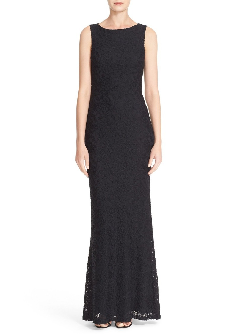 Alice + Olivia 'Sachi' Open Back Lace Maxi Dress
