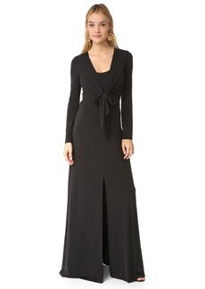alice + olivia Salina Long Sleeve Gown
